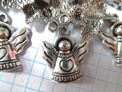 Antique  Tibetan Silver ANGEL charms